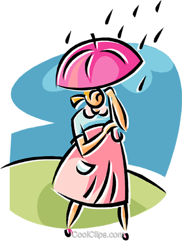 Royalty free clipart walking in the rain image royalty free library woman walking in the rain Royalty Free Vector Clip Art ... image royalty free library