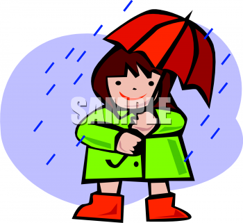 Royalty free clipart walking in the rain svg transparent library Clipart Picture Of A Small Girl Walking In The Rain svg transparent library