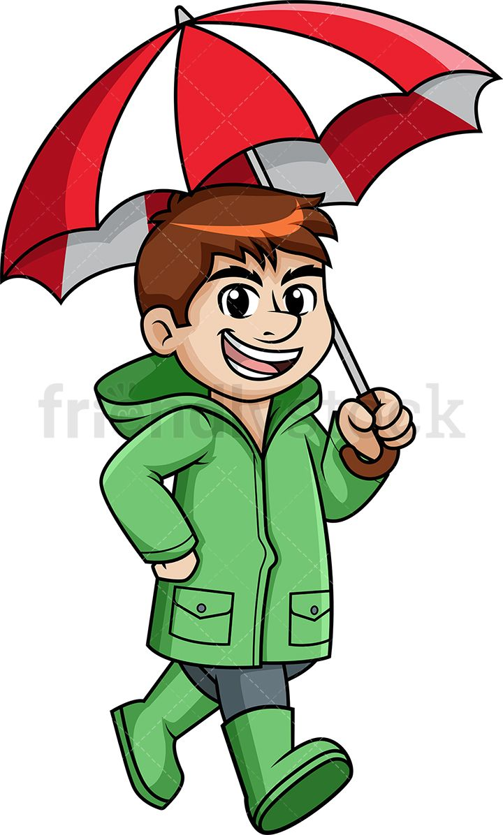 Royalty free clipart walking in the rain svg free Man Walking In The Rain Holding Umbrella | Clip Arts in 2019 ... svg free