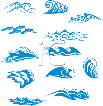 Royalty free clipart waves banner free library iCLIPART - Royalty Free Clipart Image of a Set of Waves ... banner free library