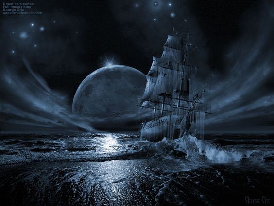 Royalty free fantasy artwork clipart free stock Ghost Pirate Ship Photos | Ghost Ship Poster image - vector clip ... clipart free stock