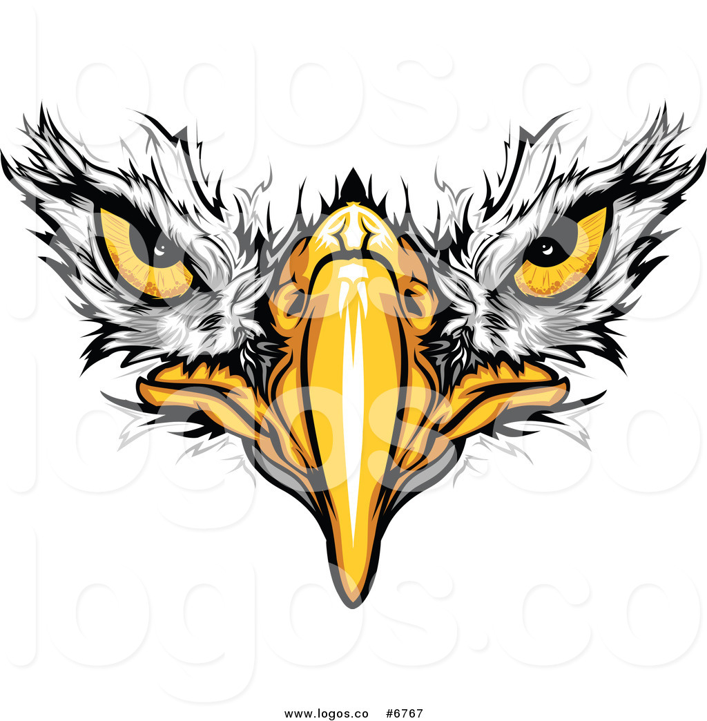 Royalty free logo clipart black and white library Royalty Free Clip Art Vector Logo of a Bald Eagle Face by ... black and white library
