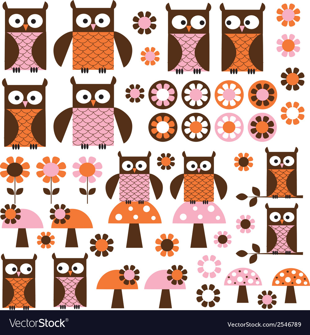 Royalty free owl clipart vector download Owl clipart vector download
