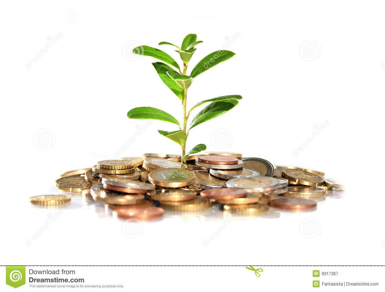 Royalty free plant images svg royalty free library Money And Plant. Royalty Free Stock Photography - Image: 9317367 svg royalty free library