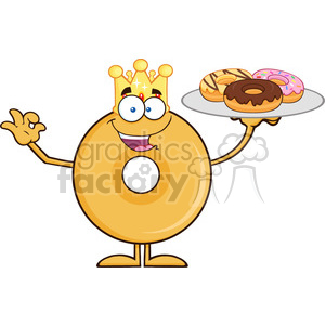 Royalty free rf clipart illustration graphic royalty free 8663 Royalty Free RF Clipart Illustration King Donut Cartoon Character  Serving Donuts Vector Illustration Isolated On White clipart. Royalty-free  ... graphic royalty free