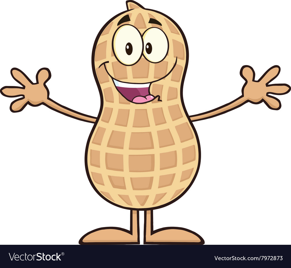 Royalty free rf clipart illustration clipart transparent stock Royalty Free RF Clipart Funny Peanut Cartoon clipart transparent stock