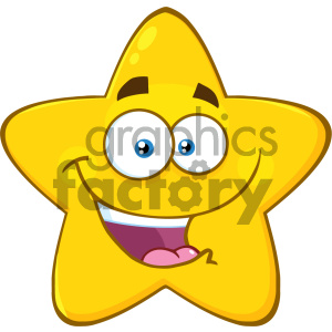 Royalty free rf clipart illustration svg transparent download Royalty Free RF Clipart Illustration Happy Yellow Star Cartoon Emoji Face  Character With Expression Vector Illustration Isolated On White Background  ... svg transparent download