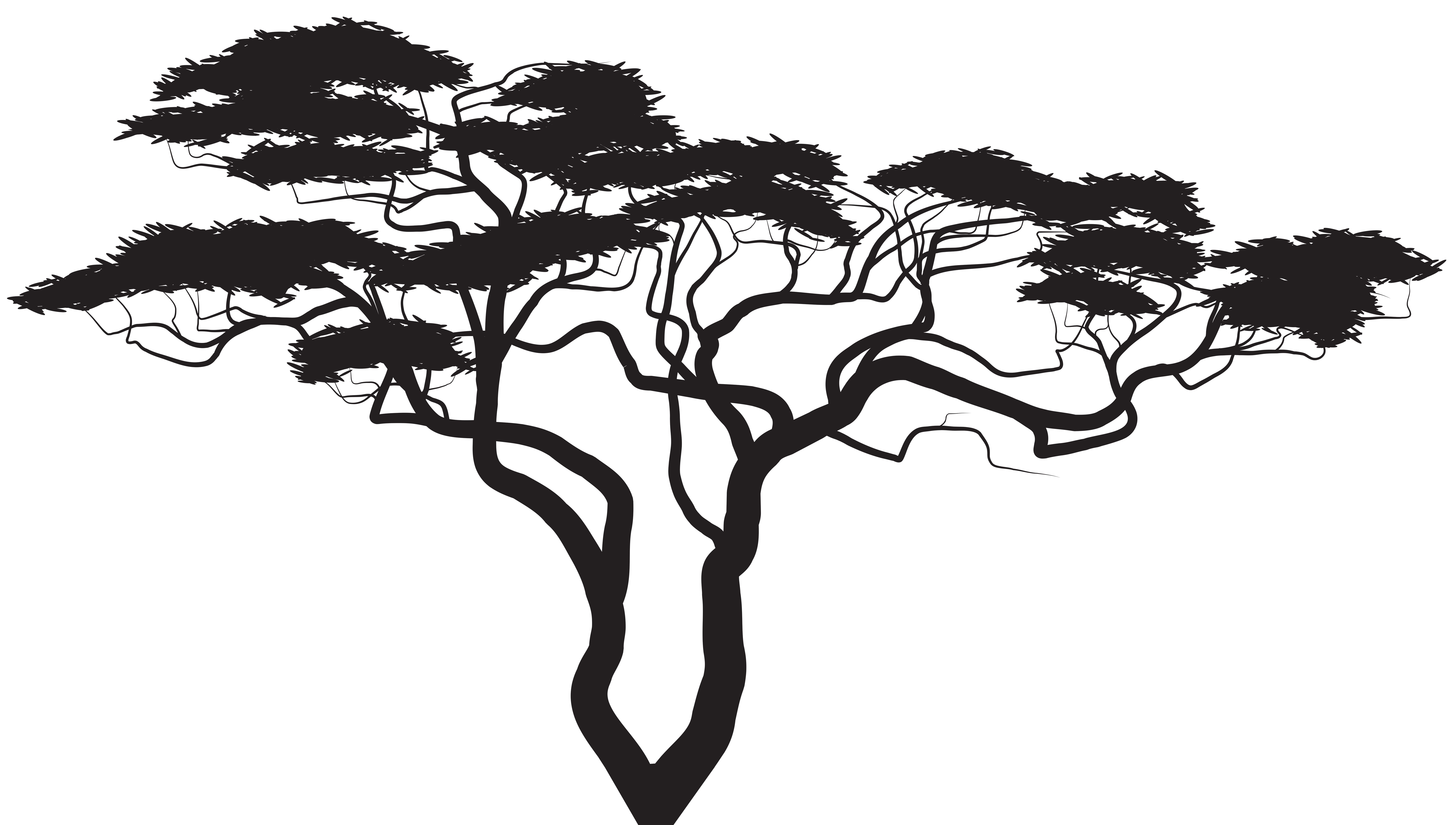 Royalty free tree clipart vector free stock Silhouette Tree Royalty-free Clip art - Exotic Tree Silhouette PNG ... vector free stock