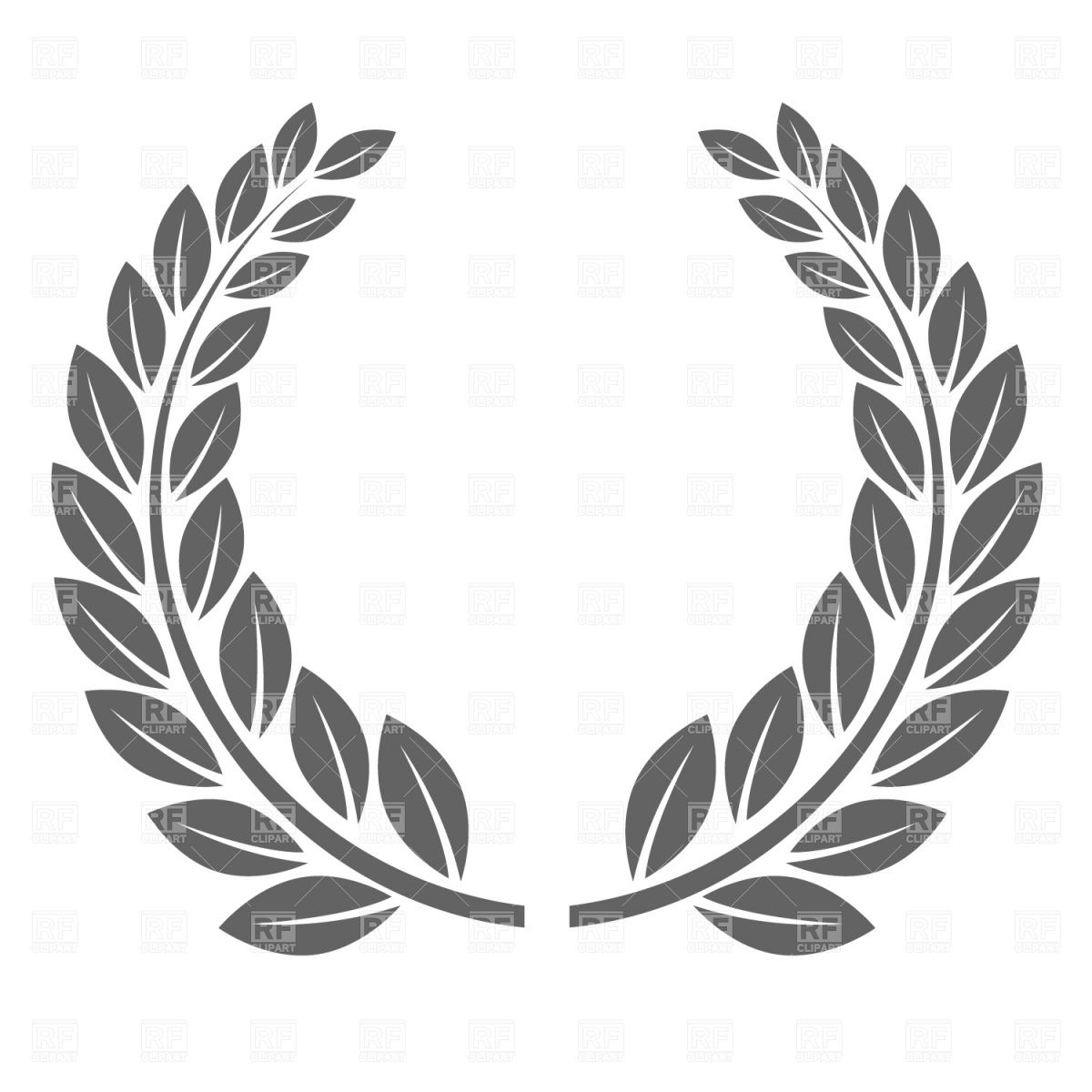 Royalty free wreath clipart black and white svg black and white stock Pin by Meg Sherrill on Print It!   Laurel wreath, Vector ... svg black and white stock