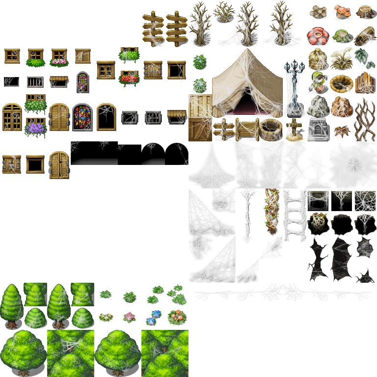 Rpg maker tilesets viking tents cliparts jpg royalty free library Ruined and/or Snow Town Tiles? | RPG Maker Forums jpg royalty free library