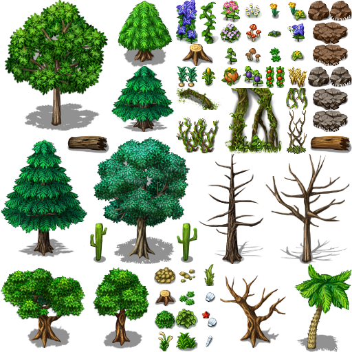 Rpg maker tilesets viking tents cliparts freeuse download rpg maker, trees and nature | 2D game references. in 2019 ... freeuse download