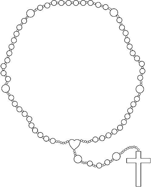 Ruary clipart black and white Rosary clip art | catholic faith | Rosary drawing, Religion ... black and white