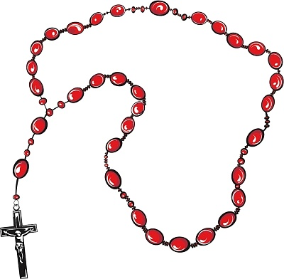 Ruary clipart image black and white library Rosary Clipart | Free download best Rosary Clipart on ... image black and white library