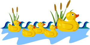 Rubber duck border clipart banner royalty free Rubber Duck Family Swimming Clip Art at Clker.com - vector ... banner royalty free