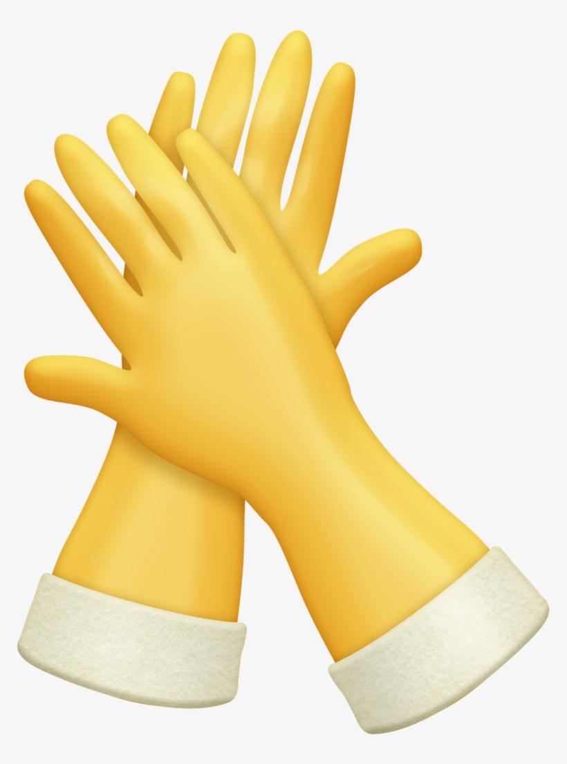 Rubber glove clipart clip art black and white download Lavanderia - Clip Art Rubber Gloves Transparent PNG ... clip art black and white download