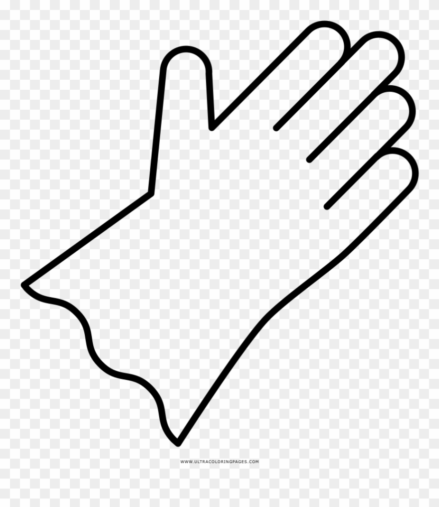 Rubber gloves clipart black and white vector free Rubber Gloves Coloring Page - Line Art Clipart (#3868707 ... vector free