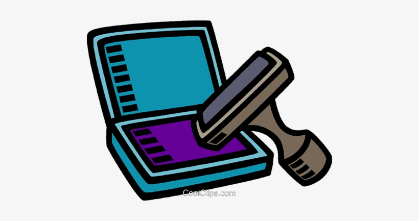 Stamps ink pad clipart clipart freeuse download Rubber Stamp Pad Royalty Free Vector Clip Art Illustration ... clipart freeuse download