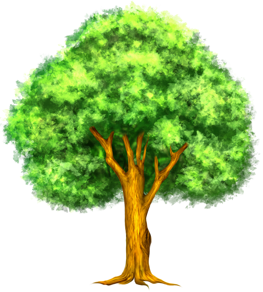 Rubber tree clipart clip royalty free library Green Painted Tree Clipart | Развивашки | Pinterest | Tree clipart ... clip royalty free library