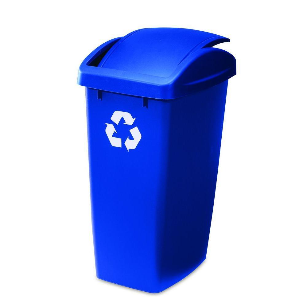 Rubbermaid clipart jpg stock Rubbermaid 12.5-Gallon Swingtop Recycling Bin   Green ... jpg stock