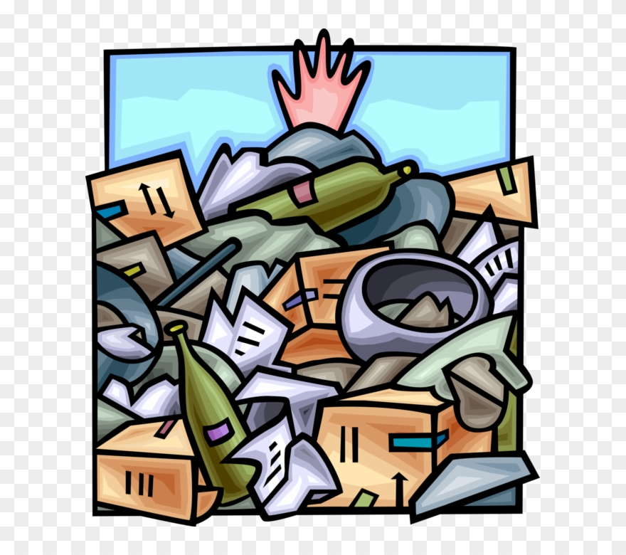 Waste dump clipart clip freeuse stock Vector Illustration Of Hand Buried Under Waste Dump ... clip freeuse stock