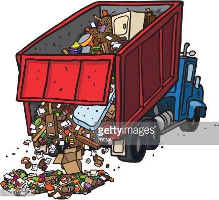 Waste dump clipart image royalty free Dump Truck Dumping Trash premium clipart - ClipartLogo.com image royalty free