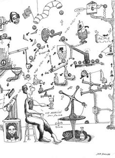 Rube goldberg black and white clipart picture freeuse download 11 Best Rube Goldberg Machine images in 2014 | Rube goldberg ... picture freeuse download