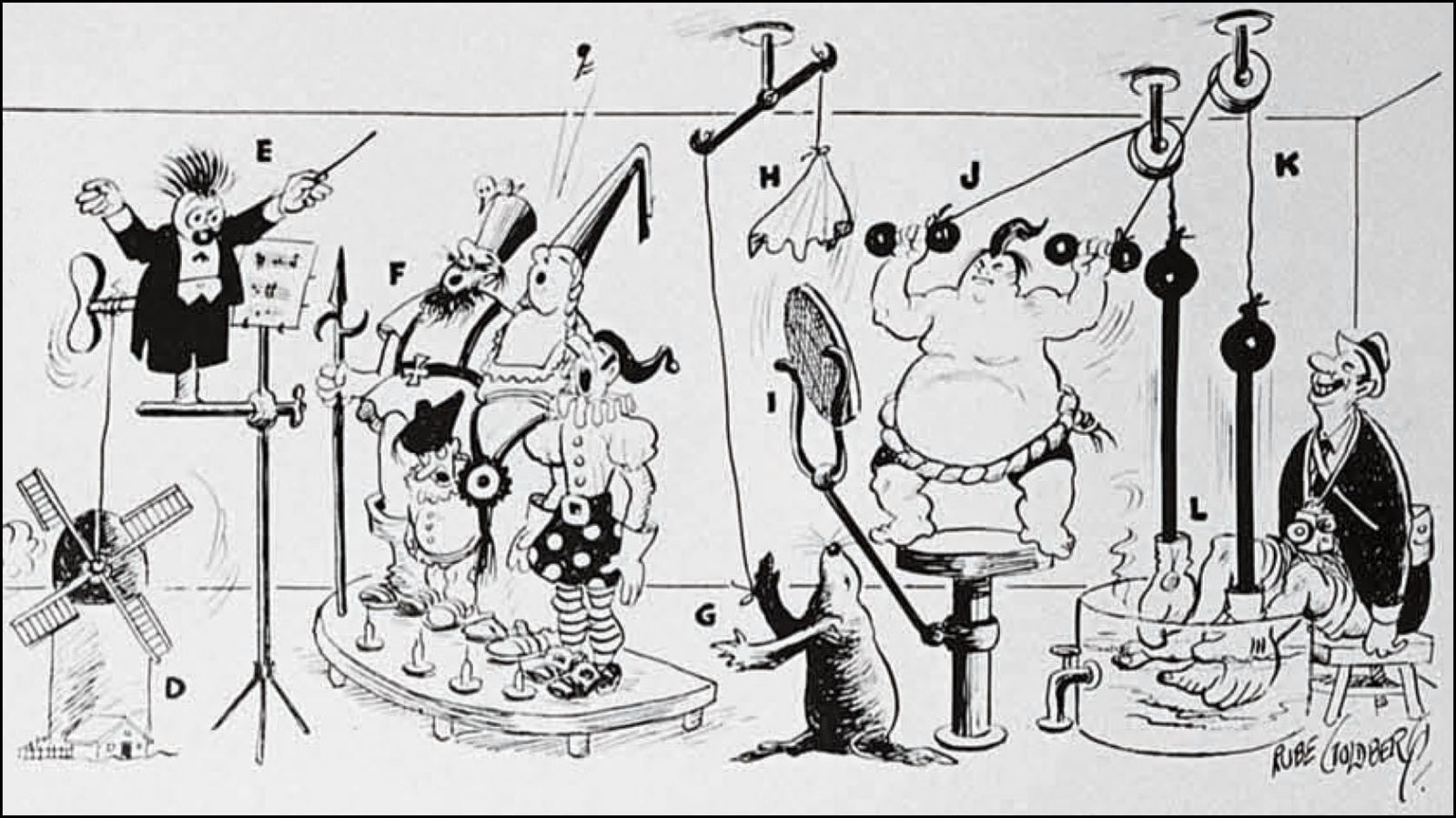 Rube goldberg black and white clipart graphic freeuse library The Rube Goldberg Hackathon – Rube Goldberg graphic freeuse library