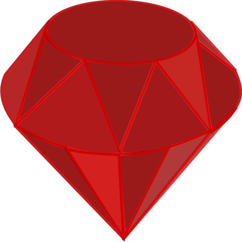 Ruby clipart vector royalty free Free Clipart: Ruby, no shading, square area | qubodup vector royalty free