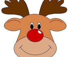 Rudolph head clipart svg black and white stock Rudolph reindeer head clipart 2 » Clipart Portal svg black and white stock