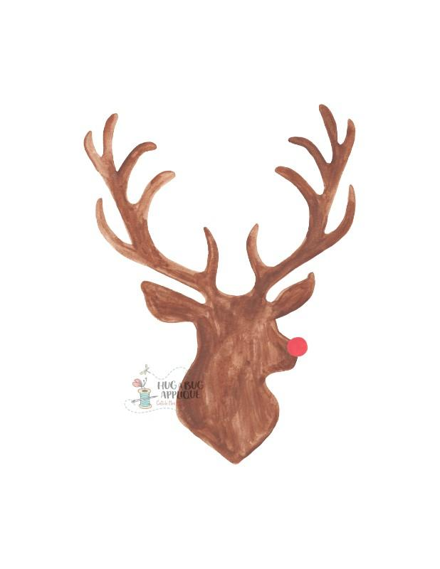 Rudolph silhouette clipart picture transparent download Rudolph Silhouette Watercolor Clipart picture transparent download