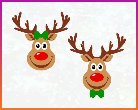 Rudolph silhouette clipart graphic transparent download Red Nosed Reindeer SVG reindeer rudolph svg clipart ... graphic transparent download