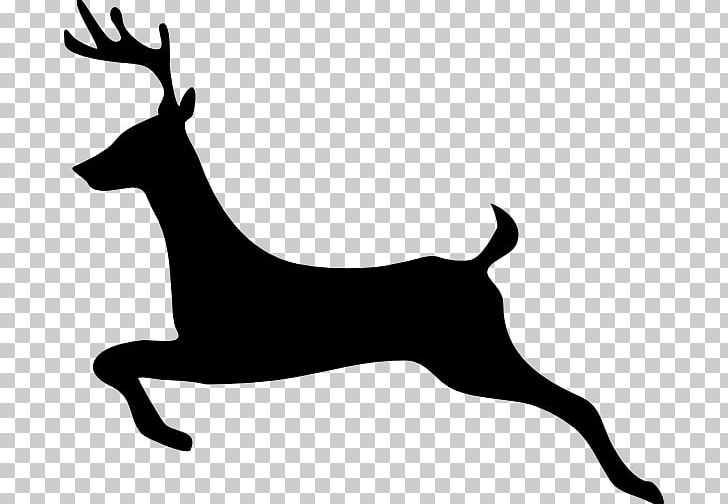 Rudolph silhouette clipart png black and white Reindeer Santa Claus Rudolph Silhouette PNG, Clipart, Clip ... png black and white
