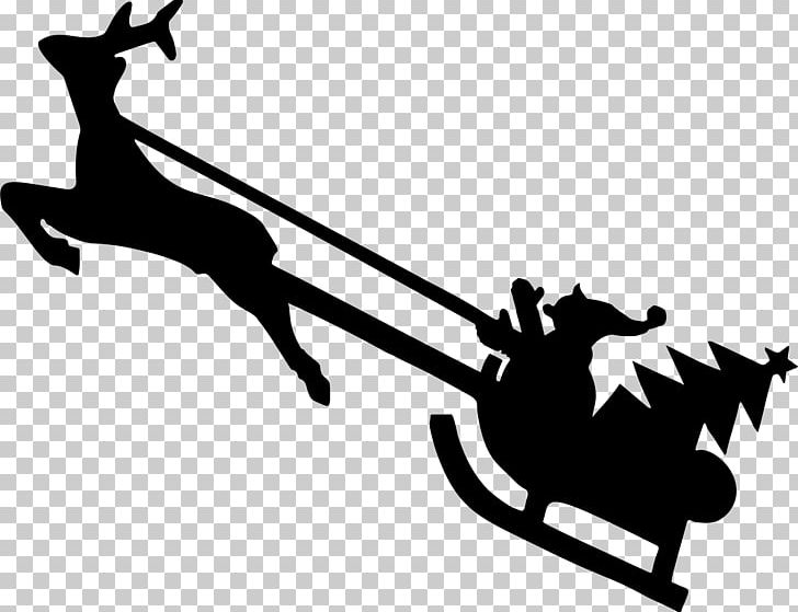Rudolph silhouette clipart clip art black and white library Reindeer Rudolph Silhouette PNG, Clipart, Art, Black And ... clip art black and white library