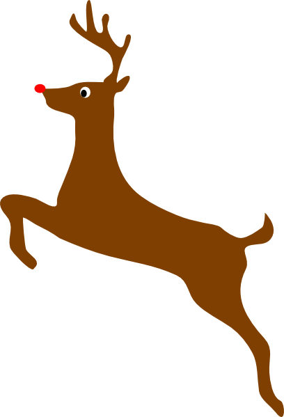 Rudolph silhouette clipart clip art free Rudolph The Red Nosed Reindeer Clip Art at Clker.com ... clip art free