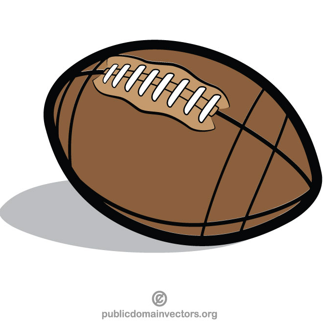 Rugby ball clipart free vector royalty free stock Rugby ball clip art - Free vector image in AI and EPS format. vector royalty free stock