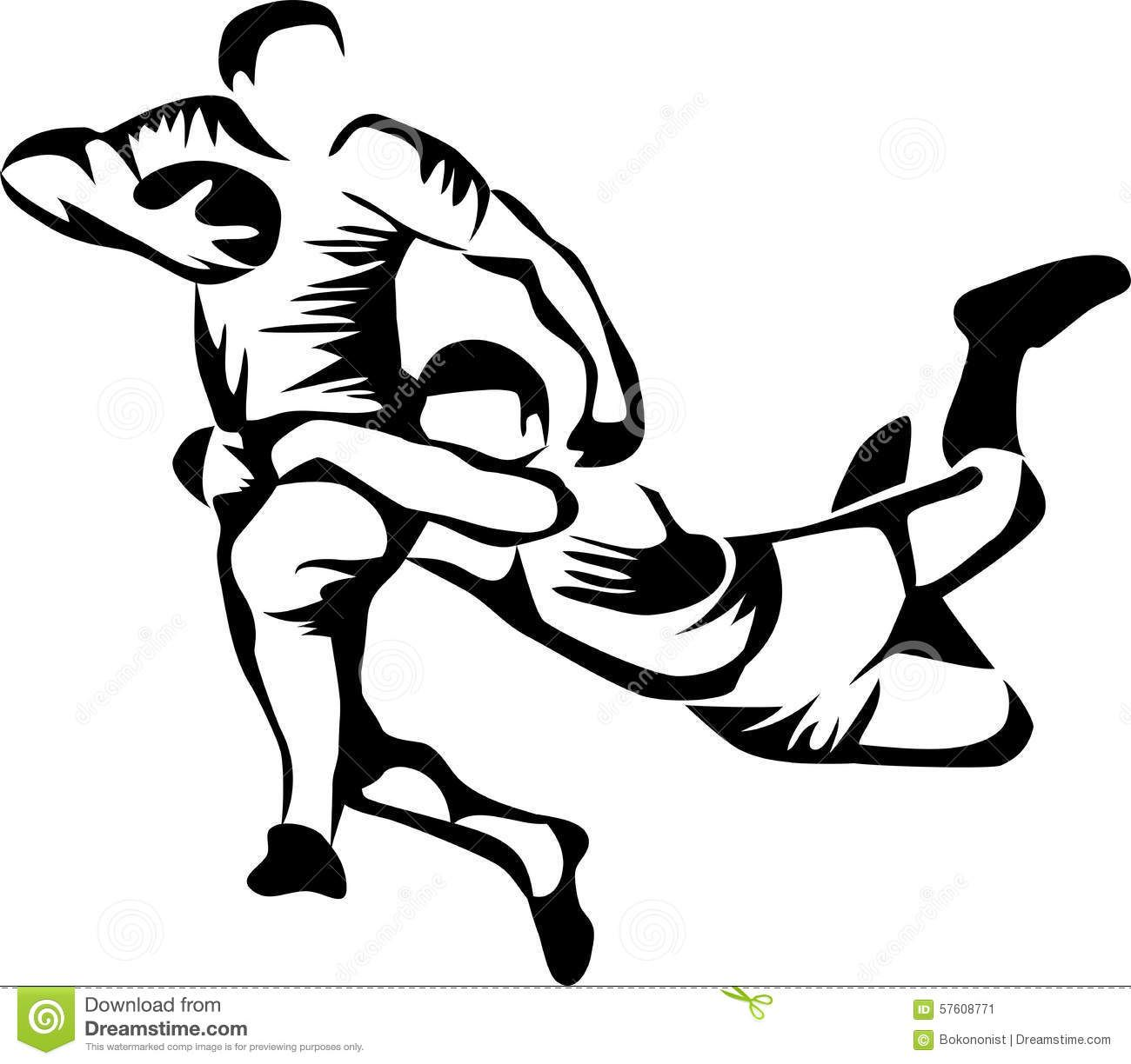 Rugby clipart images black and white stock Rugby Player Clip Art   Rugby players - stylized black ... black and white stock