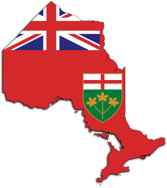 Rugged flag baseball clipart image freeuse download Ontario Map with Flag and Coat of Arms | Cool Maps of Hamilton ... image freeuse download