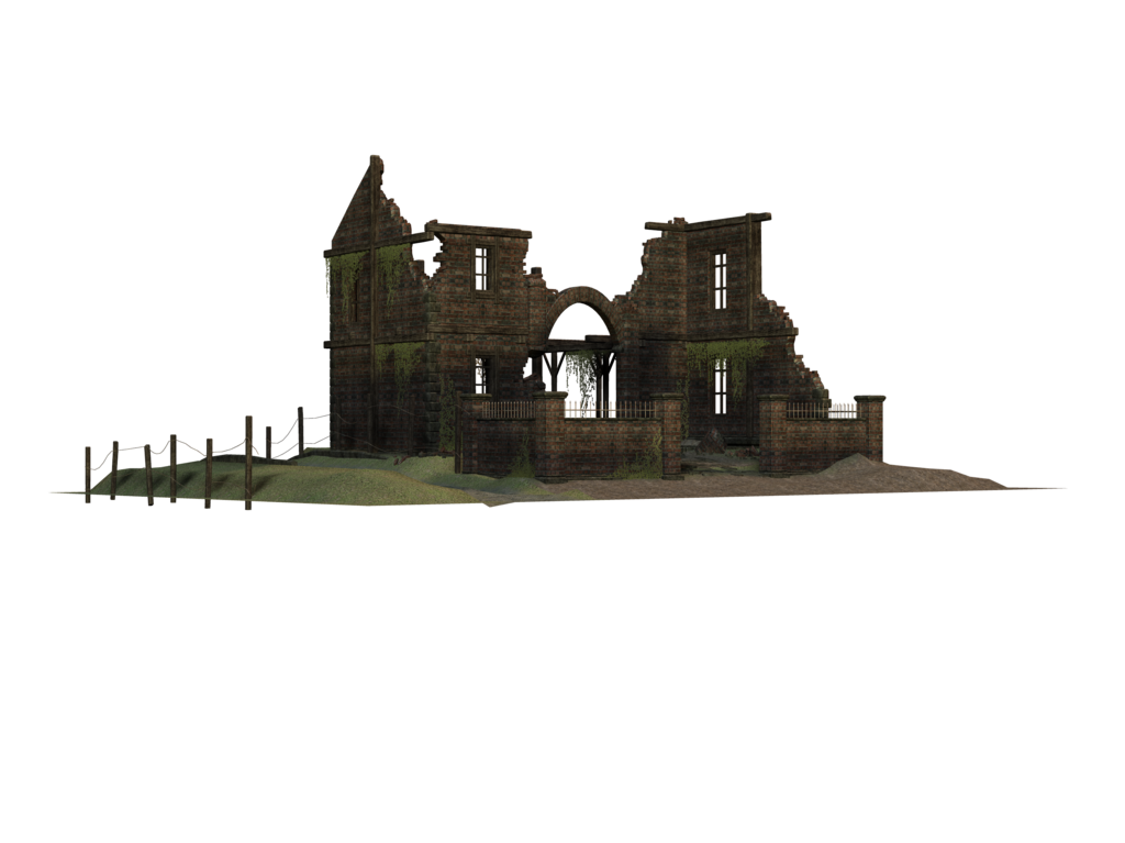 Ruined house clipart svg transparent Old House Ruins 3D PNG.. by Alz-Stock-and-Art on DeviantArt ... svg transparent