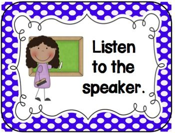 Rules and procedures clipart banner royalty free Classroom Rules for the Elementary Classroom (Polka Dots ... banner royalty free