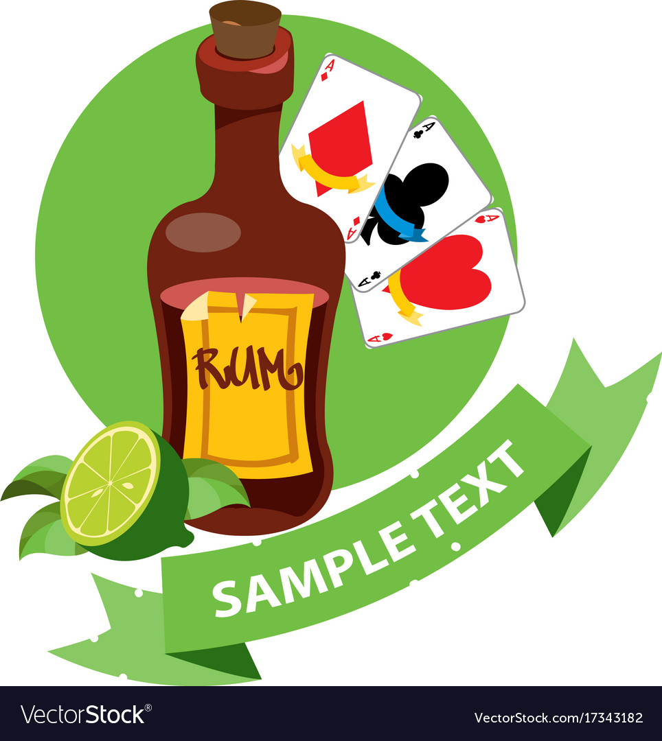 Rum clipart clipart transparent download Bottle of rum and playing cards clipart on pirate clipart transparent download