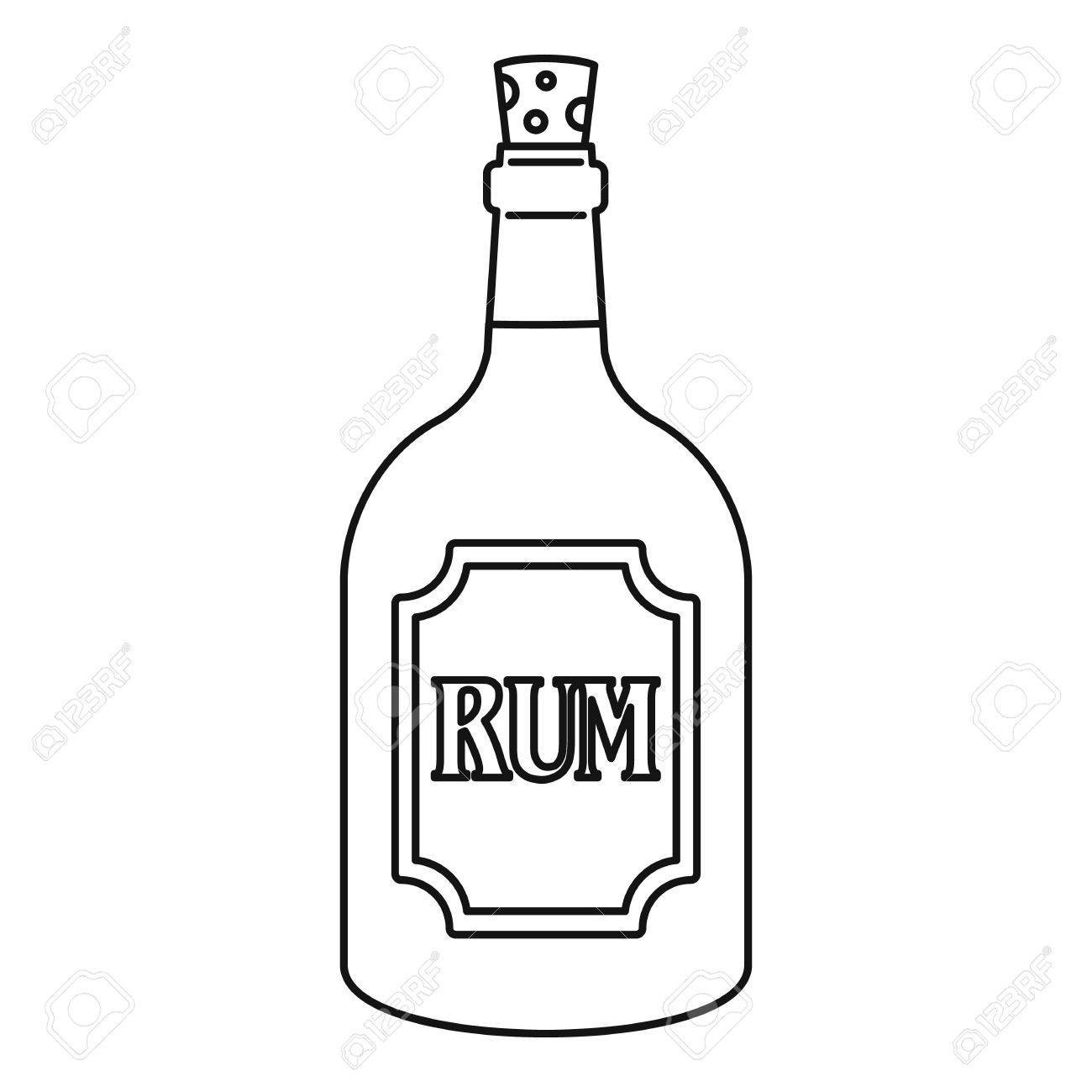 Rum clipart svg freeuse stock Rum icon, outline style » Clipart Portal svg freeuse stock