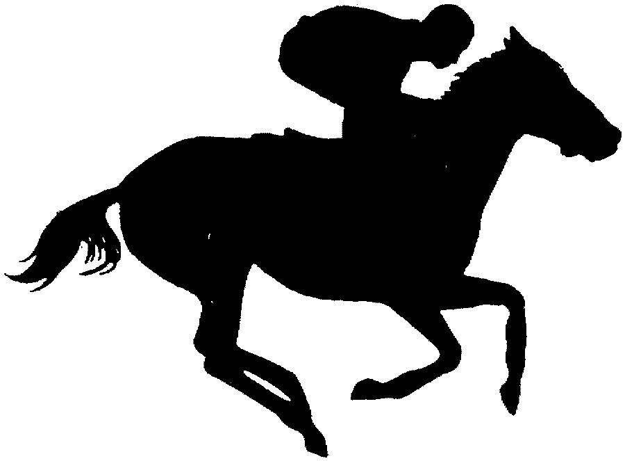 Run for the roses with horse clipart