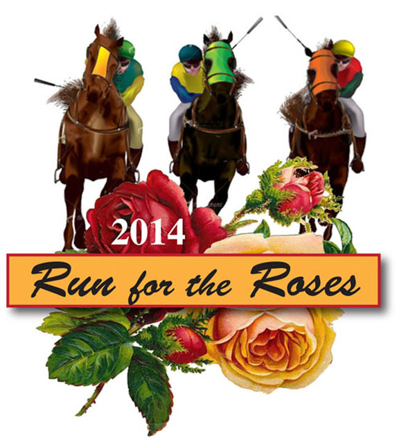 Run for the roses with horse clipart banner black and white library 12 Run For Roses Graphics Images - Kentucky Derby Rose ... banner black and white library