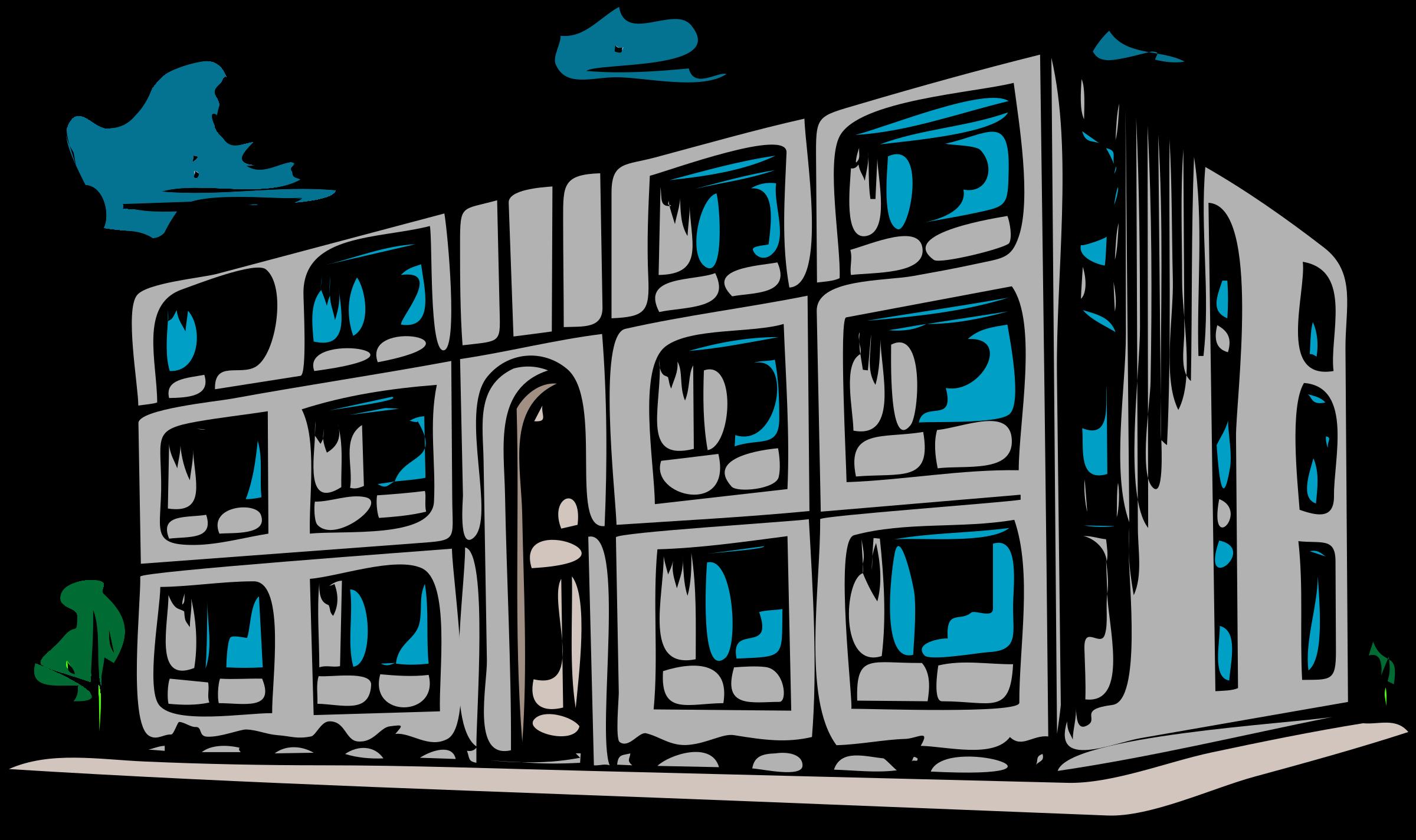 Rundown house clipart clip art royalty free stock Clipart - Architetto -- Condominio clip art royalty free stock