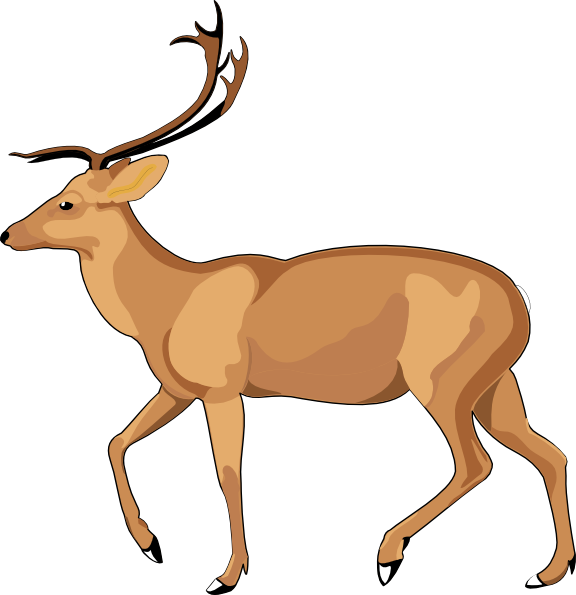 Runing deer with a cross clipart png freeuse download 28+ Collection of Antelope Running Clipart | High quality, free ... png freeuse download