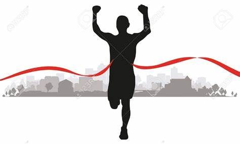 Runner crossing finish line clipart image free Image result for runners crossing finish line | words of ... image free