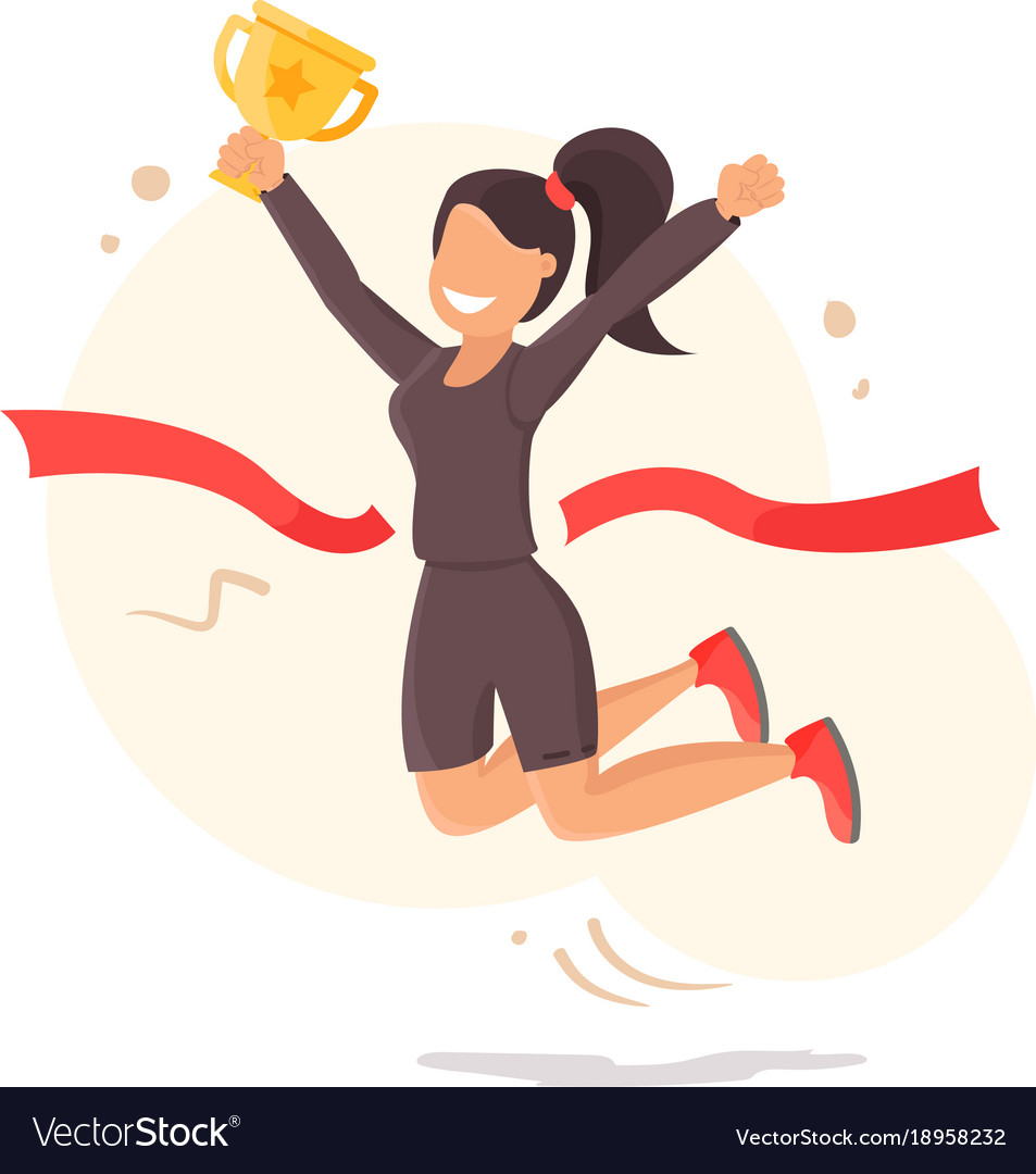 Runner crossing finish line clipart jpg library library Finish line running wonan athletic victory icon jpg library library