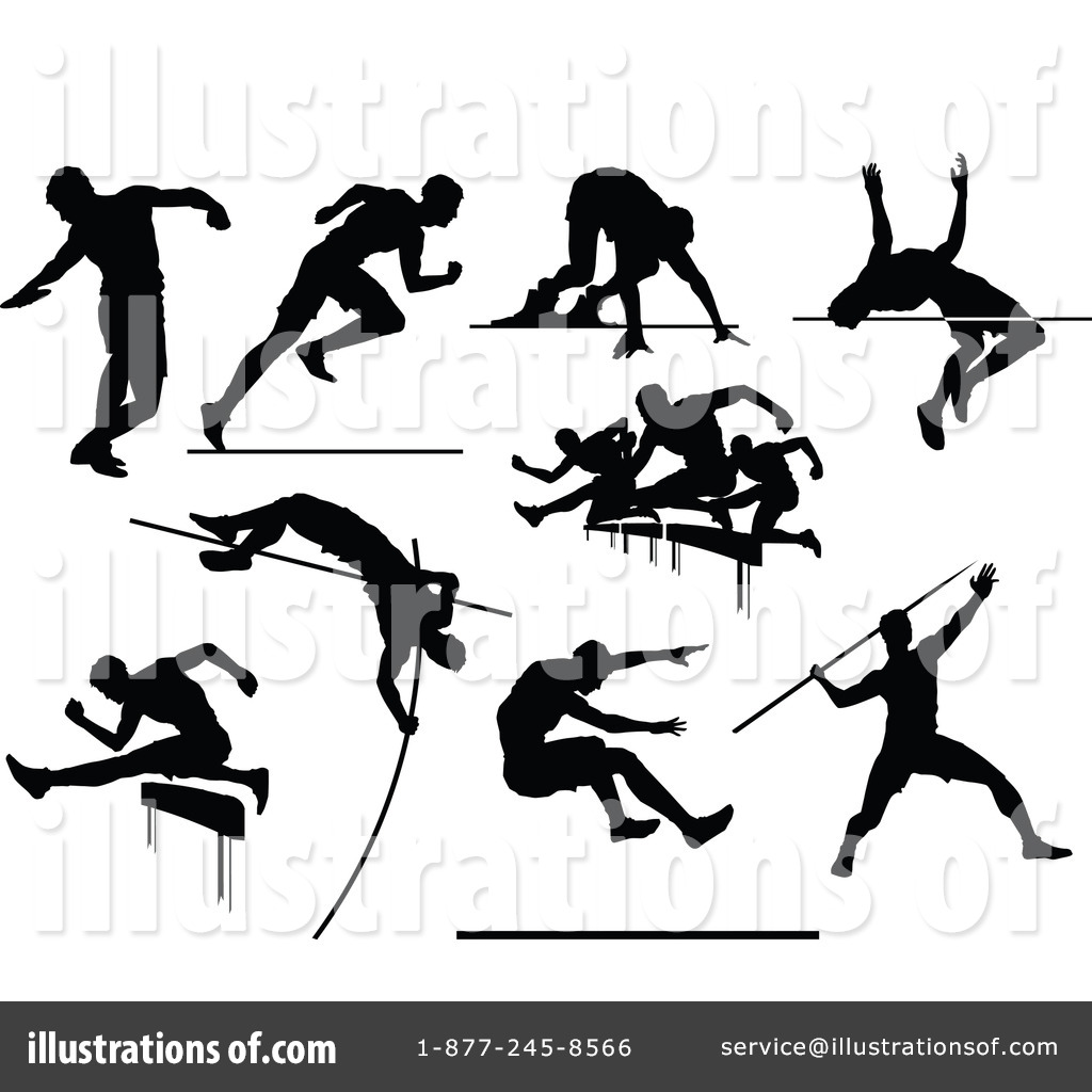 Runner jumper clipart clip art black and white library Track And Field Clipart #1260586 - Illustration by Chromaco clip art black and white library