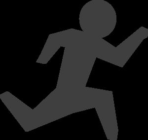 Runner jumper clipart banner royalty free download Gray Man Running Clip Art at Clker.com - vector clip art ... banner royalty free download