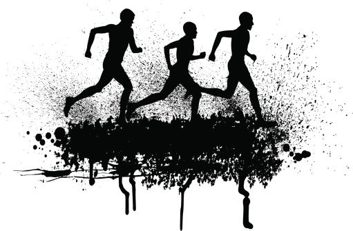 Runner jumper clipart picture library stock Cross Country Runners - Track Event Background | art | Cross ... picture library stock